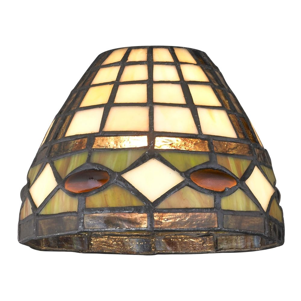 Dome Tiffany Glass Shade 1 5 8 Inch Fitter Gl1044