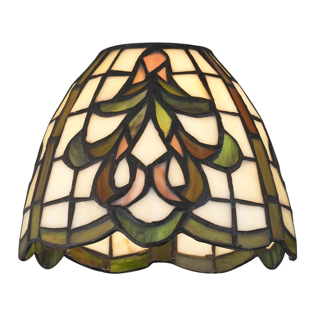 Dome Lamp Shades: Dome Tiffany Glass Shade - 1-5/8-inch Fitter