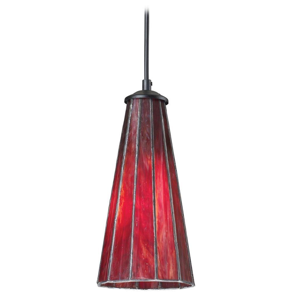 mini pendant light with red glass 70000 1ir destination lighting. Black Bedroom Furniture Sets. Home Design Ideas