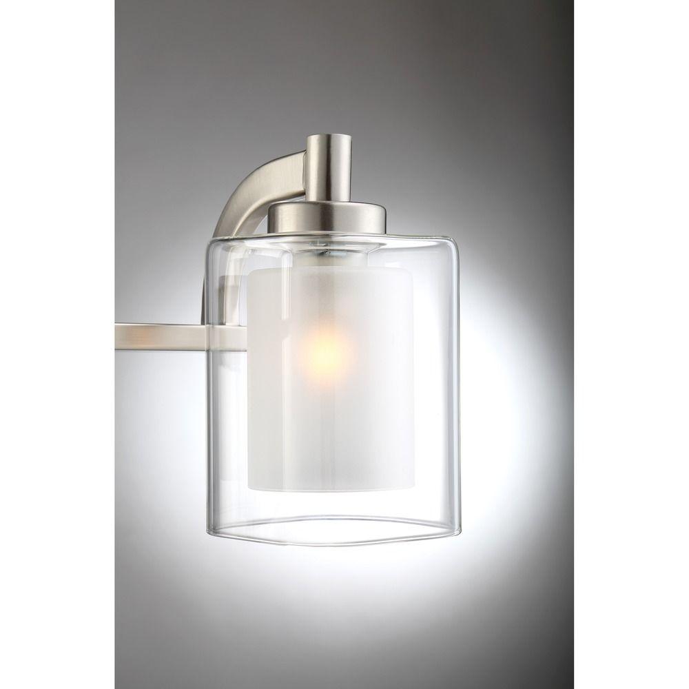 Quoizel lighting kolt brushed nickel led bathroom light for Quoizel bathroom lighting