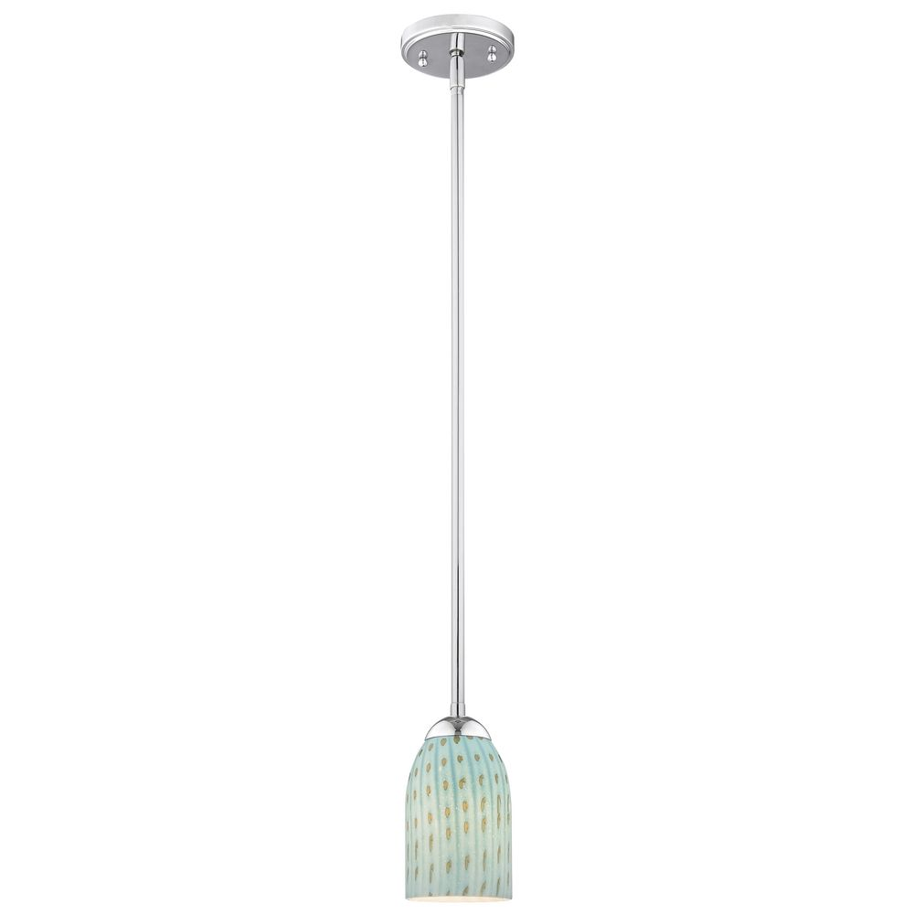 glass mini pendant light with turquoise dome shade ebay
