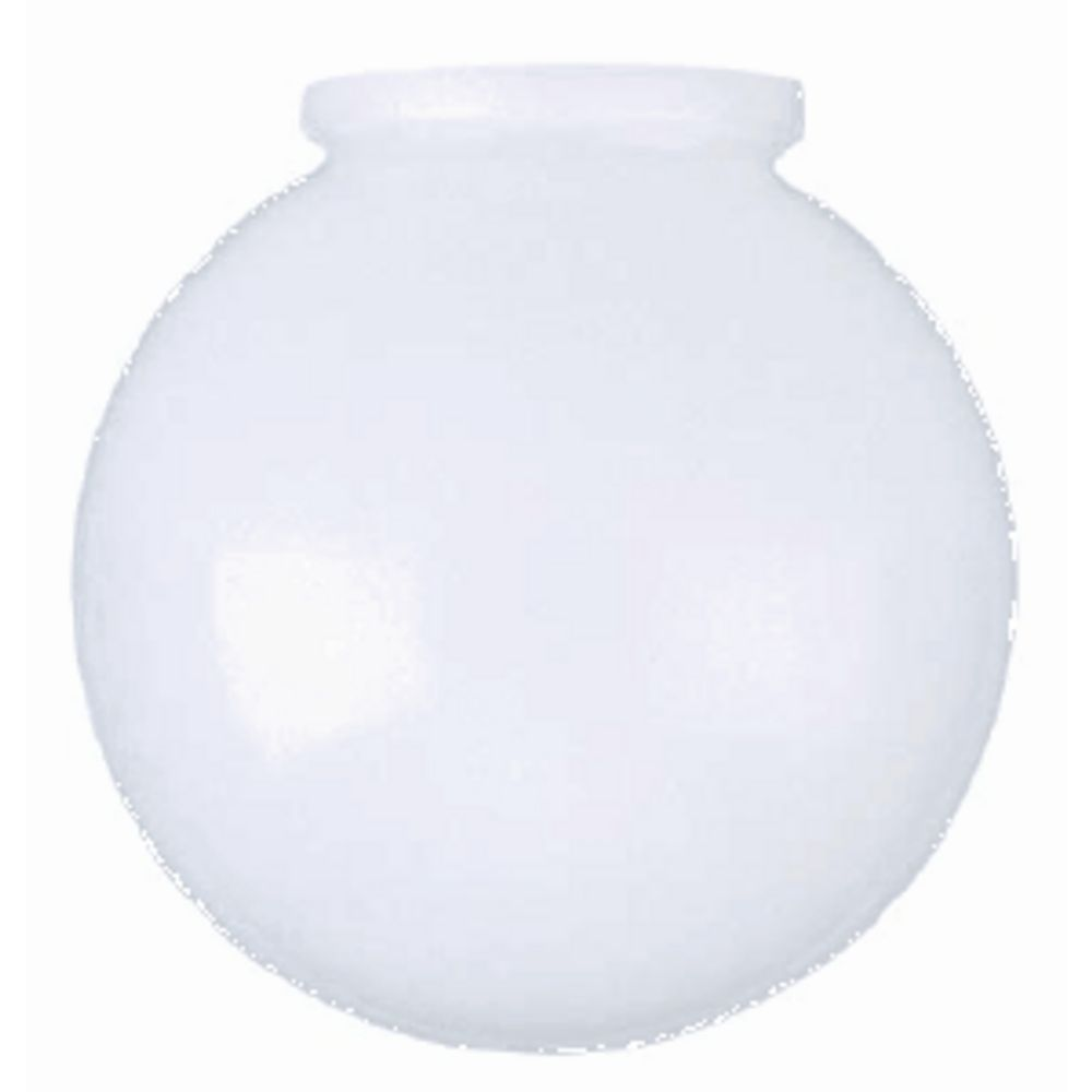 8 Inch White Glass Globe 4 Inch Fitter Opening 50 144