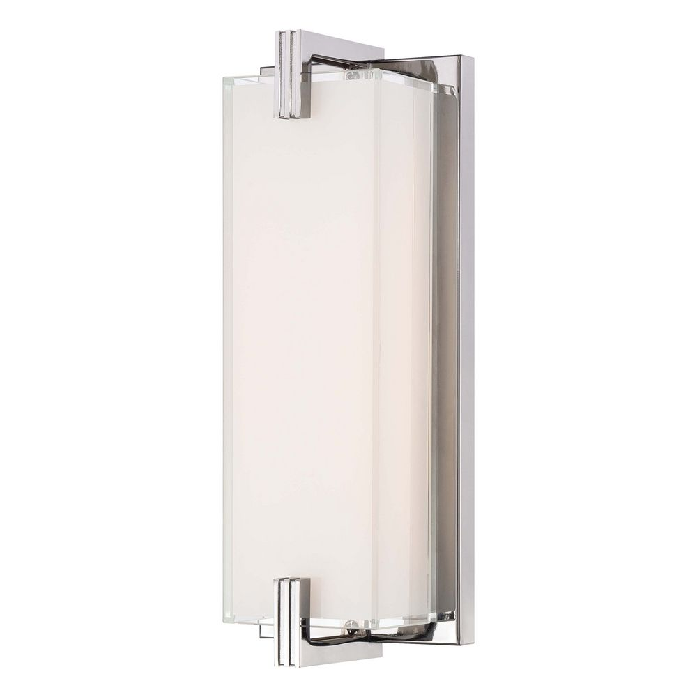 Vanity Lighting Vertical : Cubism Chrome LED Bathroom Light - Vertical or Horizontal Mounting P5219-077-L Destination ...