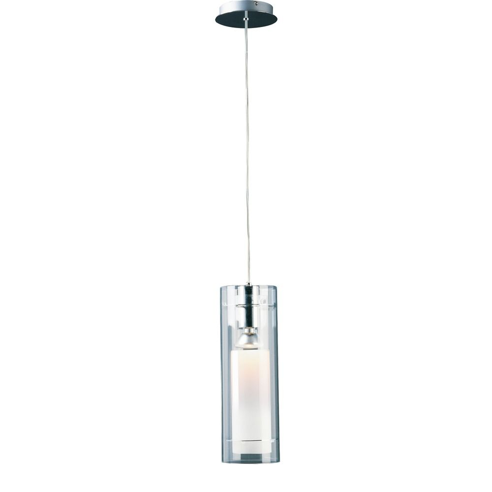 Modern Mini Pendant Light With Clear Glass In Polished