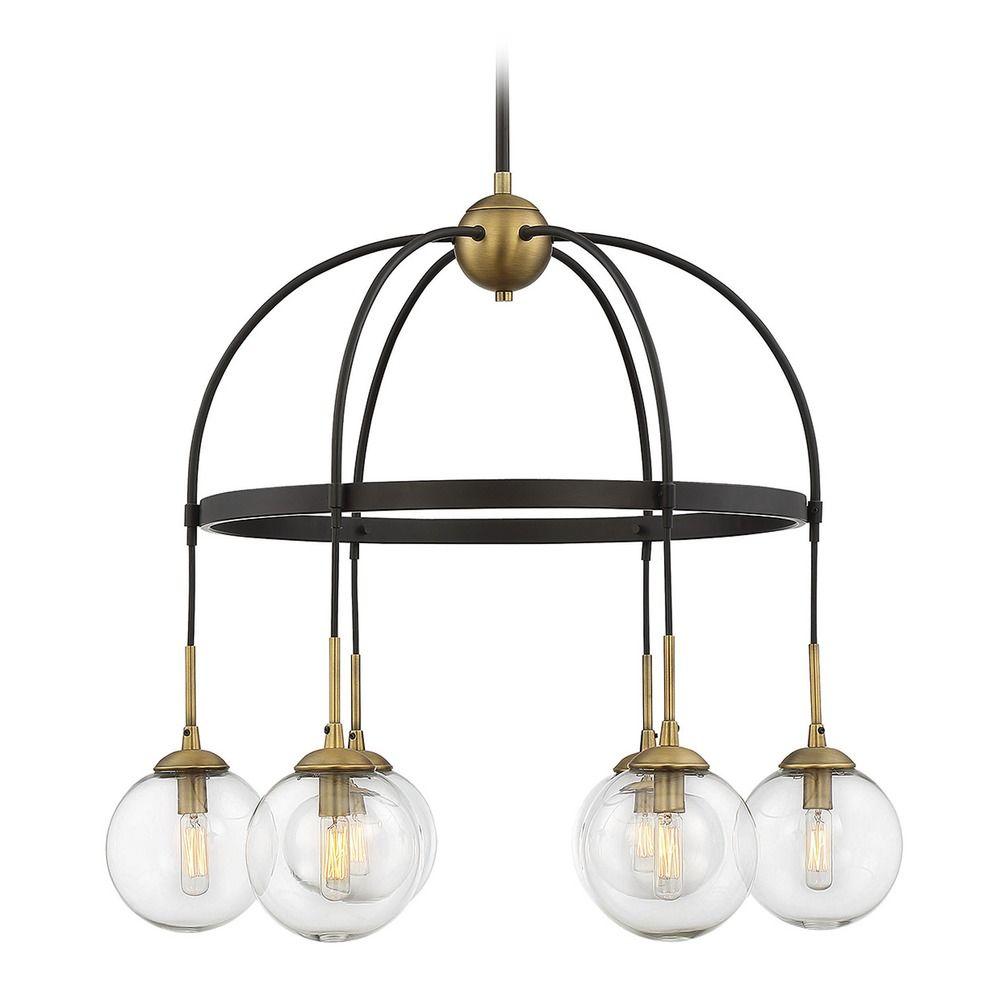 Mid century modern chandelier bronze brass fulton by savoy house product image aloadofball Gallery