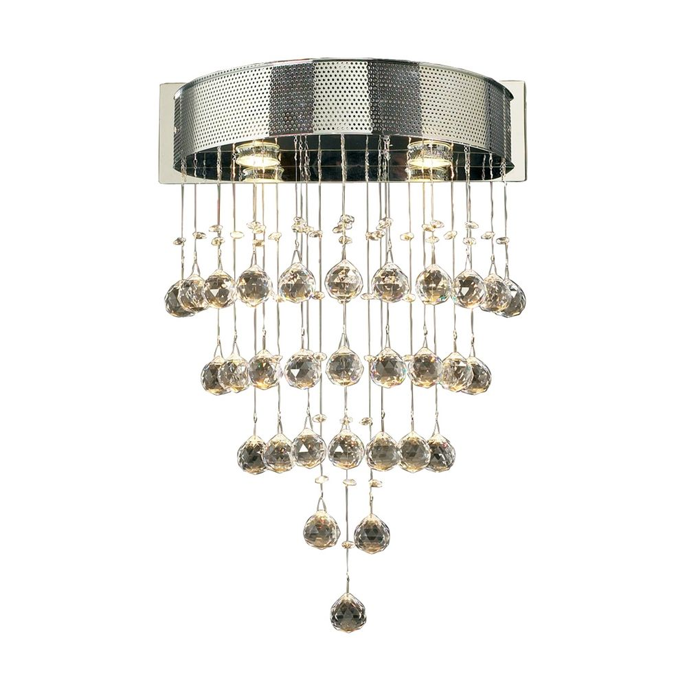 Wall Sconce Chrome Finish : Modern Sconce Wall Light with Clear Glass in Polished Chrome Finish 81730 PC Destination ...