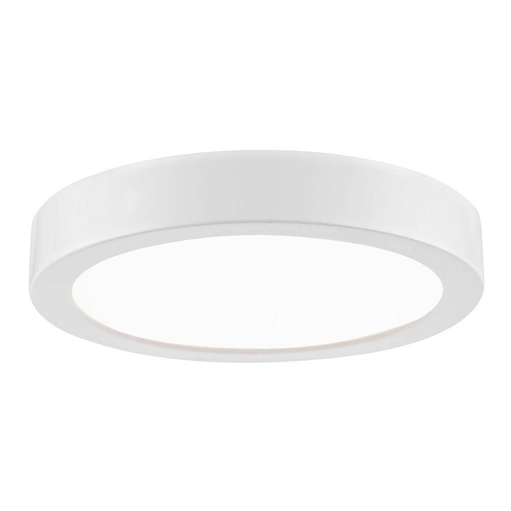 Surface Mount Led Lamp : Flat led light surface mount inch round white k