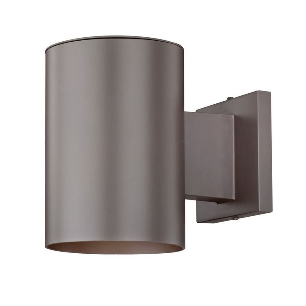 LED Cylinder Outdoor Wall Down Light In Bronze Finish