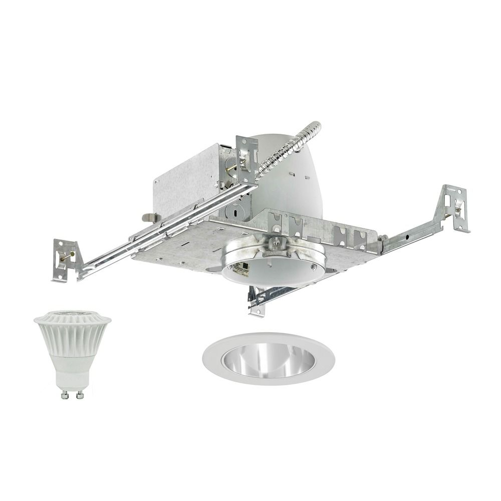 Led Recessed Lighting Kit New Construction : New construction non insulated inch led recessed light