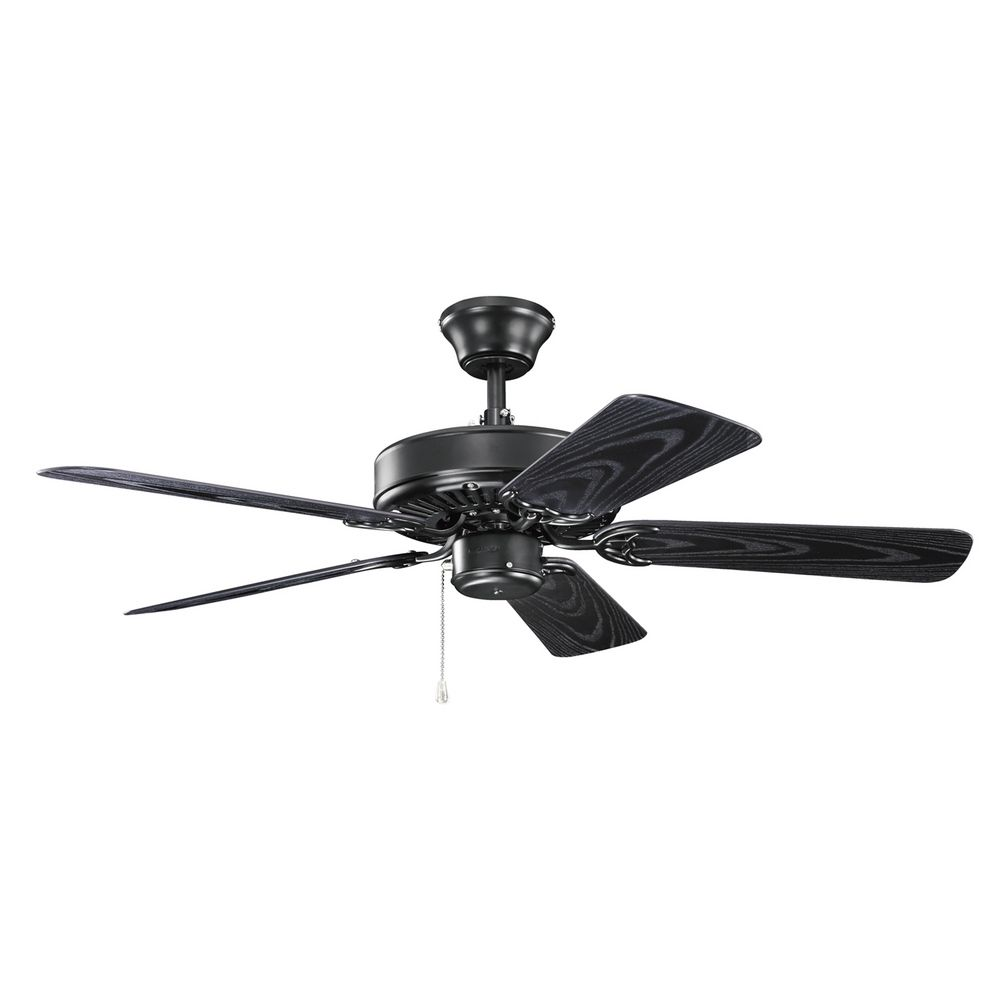 Black Ceiling Fans : Kichler lighting basics revisited satin black ceiling fan