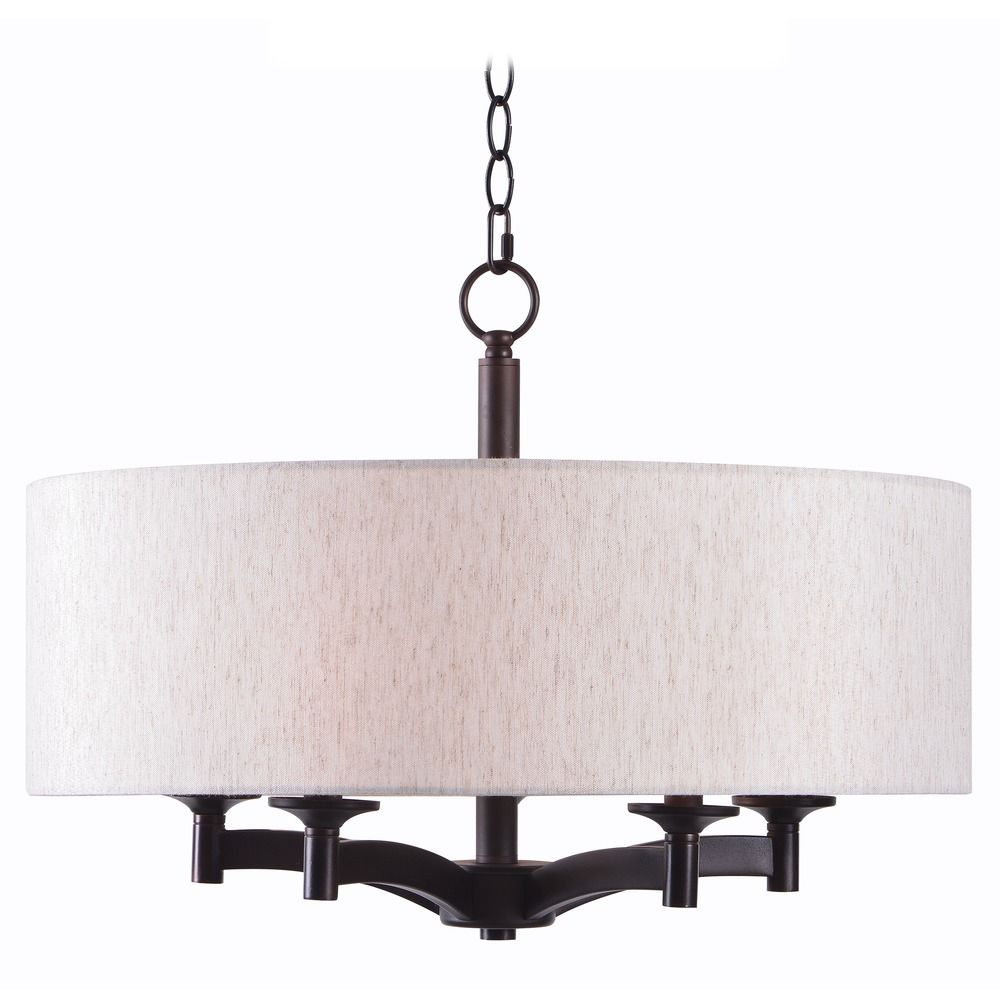 ... Oil Rubbed Bronze Pendant Light With Drum Shade 93637ORB. Hover Or  Click To Zoom