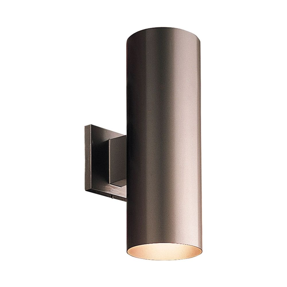Progress Bronze Up And Down Cylinder Outdoor Wall Light P5675 20 Destinat
