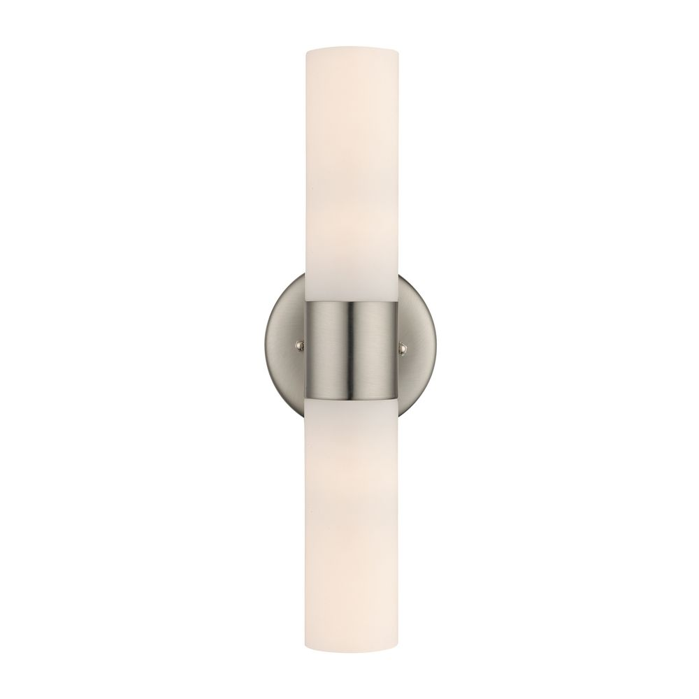 Satin Nickel Bathroom Light - Vertical or Horizontal Mounting | 115 ...
