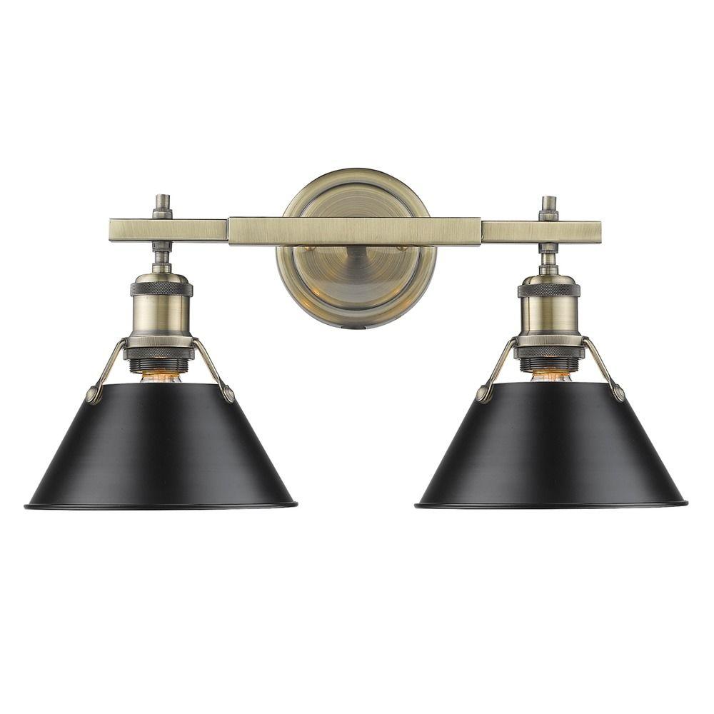 Golden Lighting Orwell Ab Aged Brass Bathroom Light | 3306-BA2 AB ...