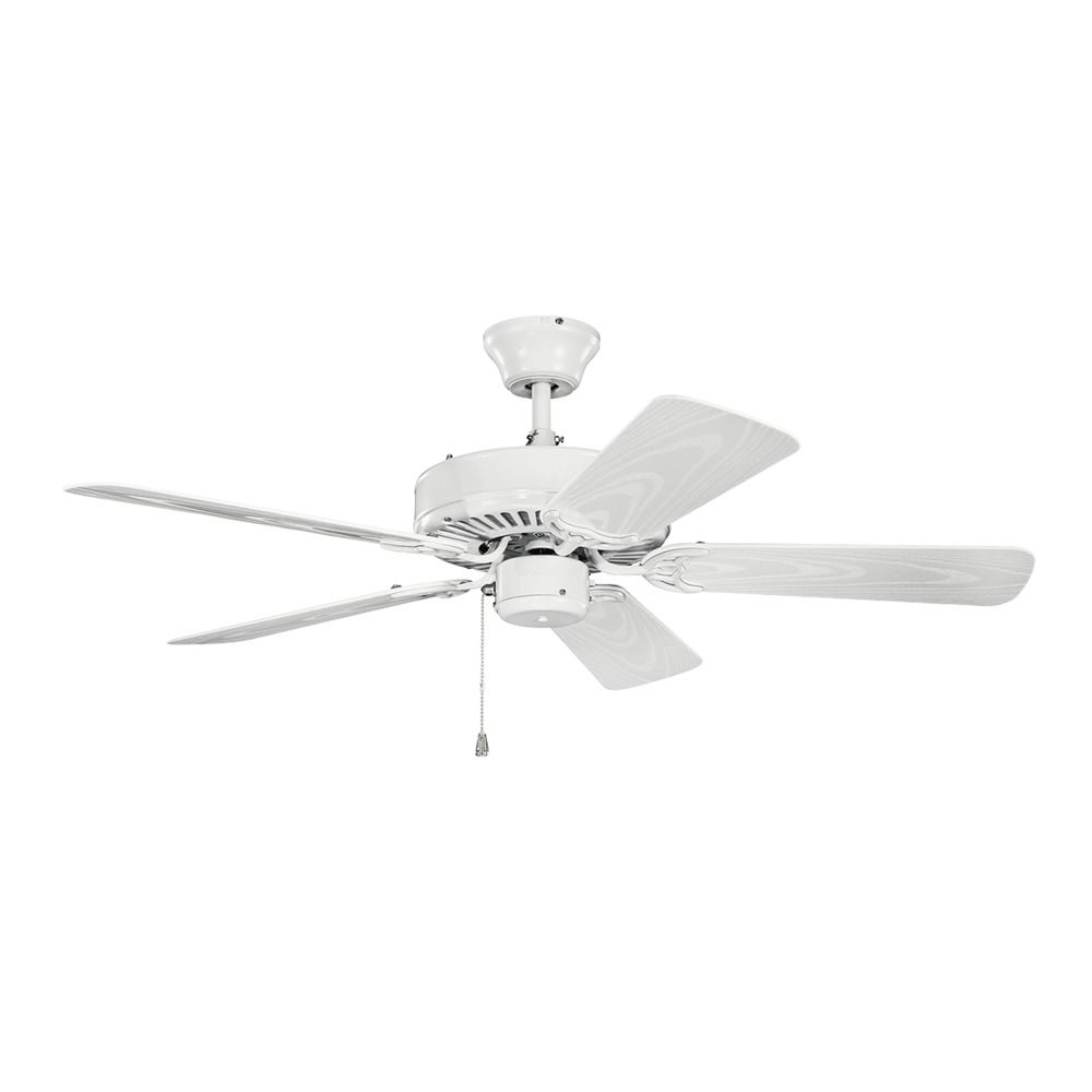 Kichler lighting basics revisited white ceiling fan Ceiling fans no light