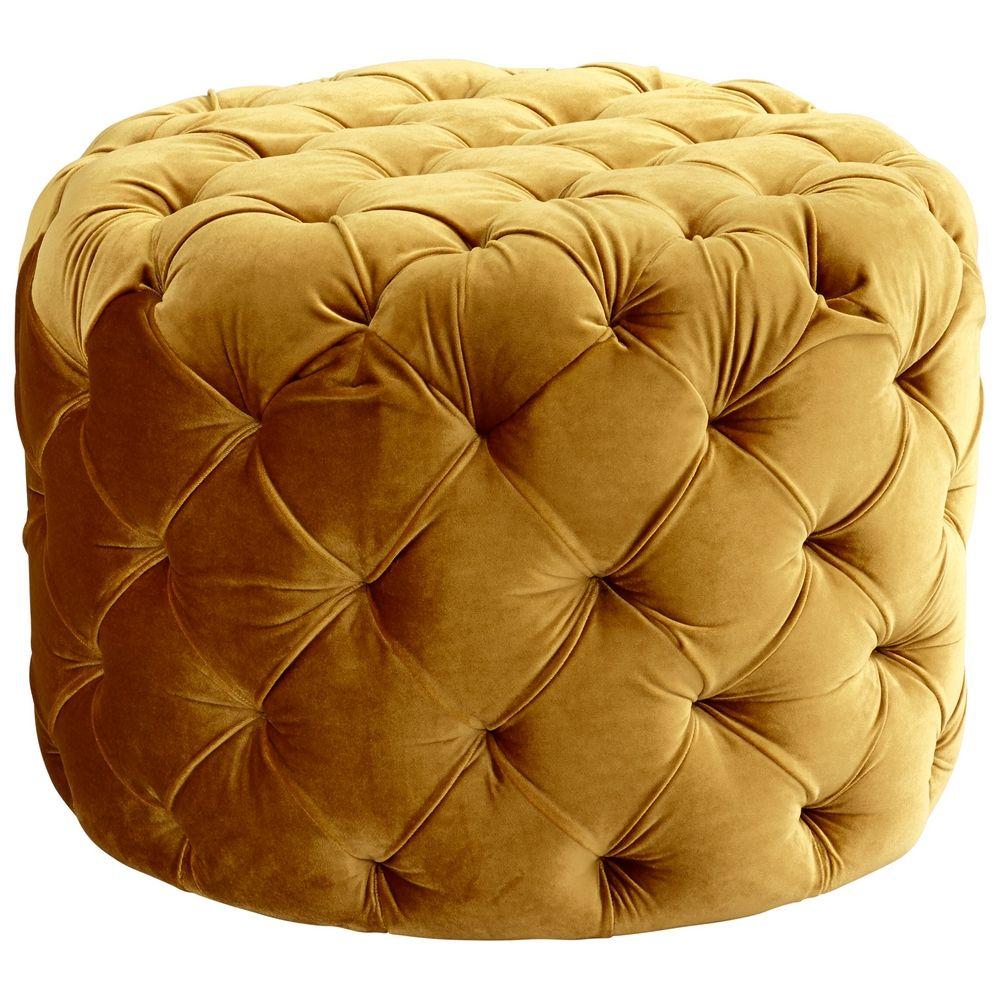 cyan design miss muffet gold ottoman 06778 destination