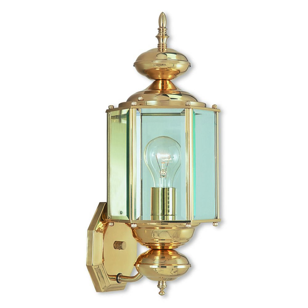 Livex Lighting Outdoor Basics Polished Brass Outdoor Wall Light 2006-02 Destination Lighting