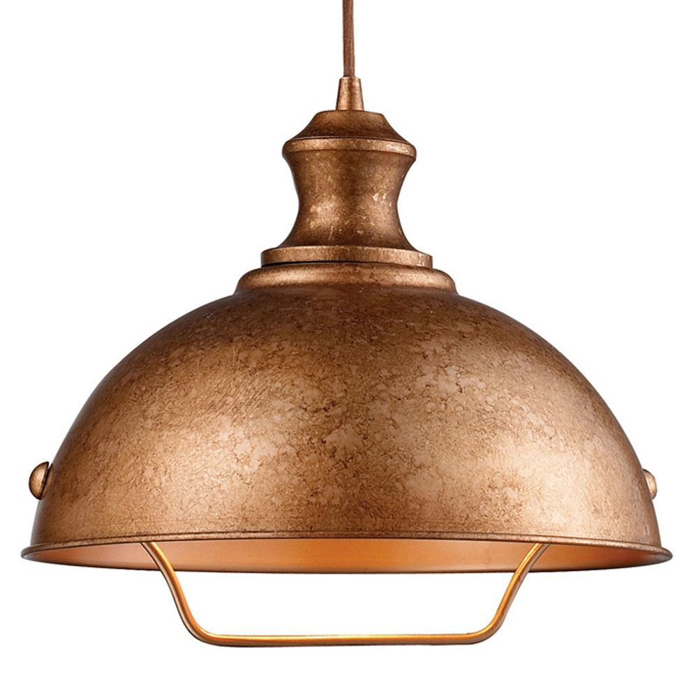 Farmhouse Pulley Pendant Light - Copper Finish   65061-1 ...