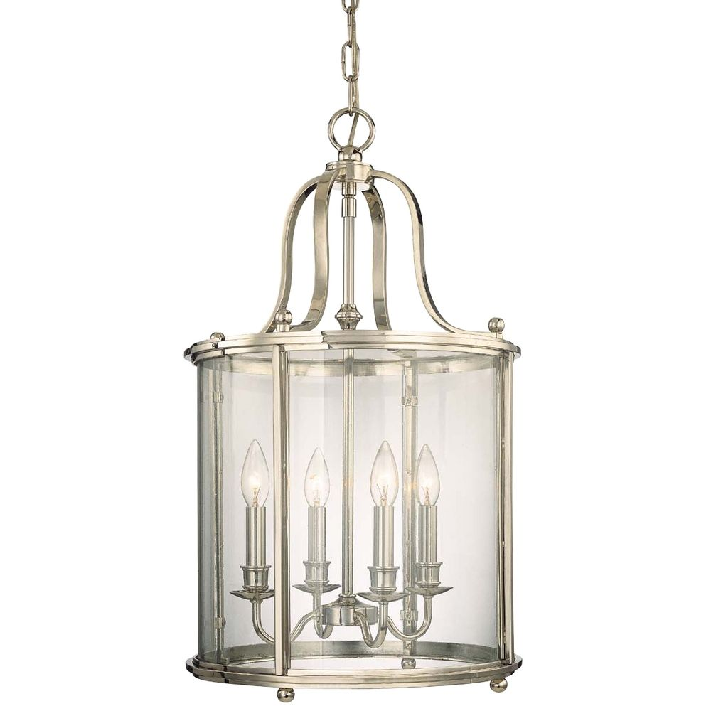 Polished nickel cage chandelier with four lights 1315 pn hover or click to zoom aloadofball Choice Image