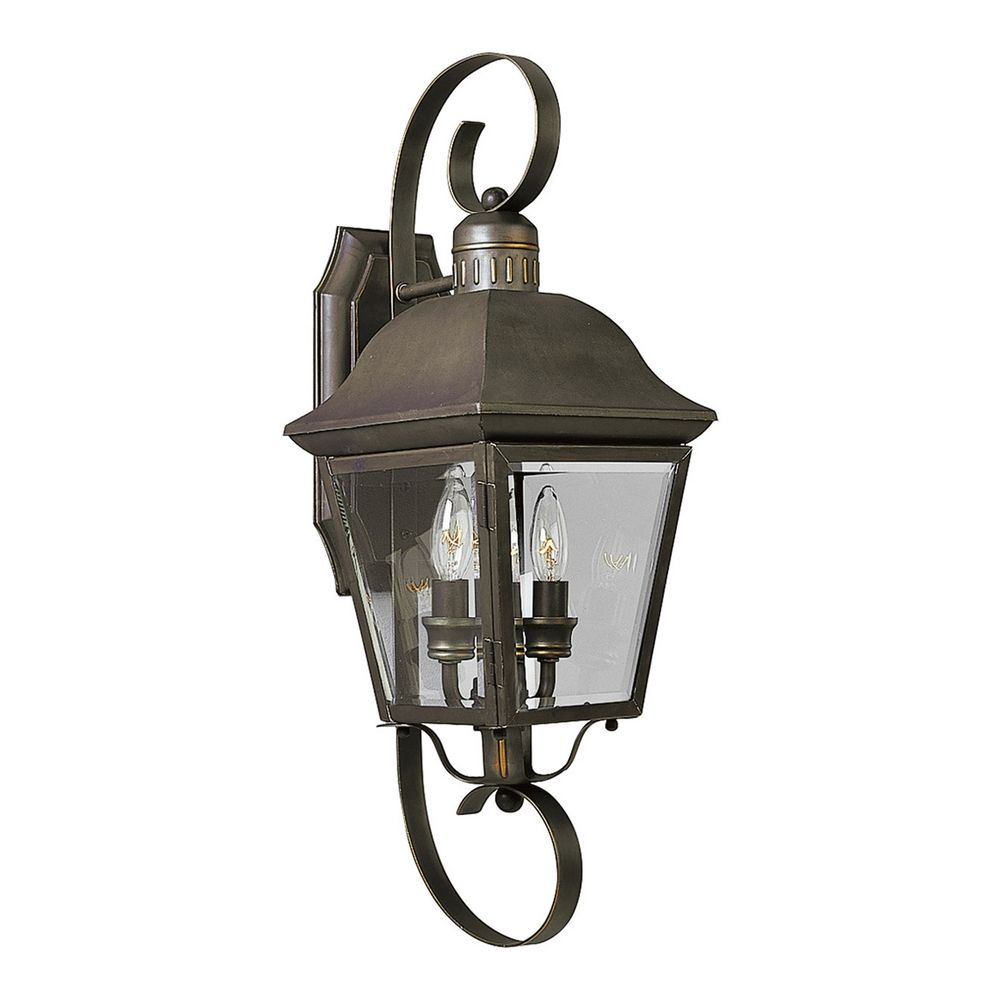 Progress Outdoor Wall Light With Clear Glass In Antique