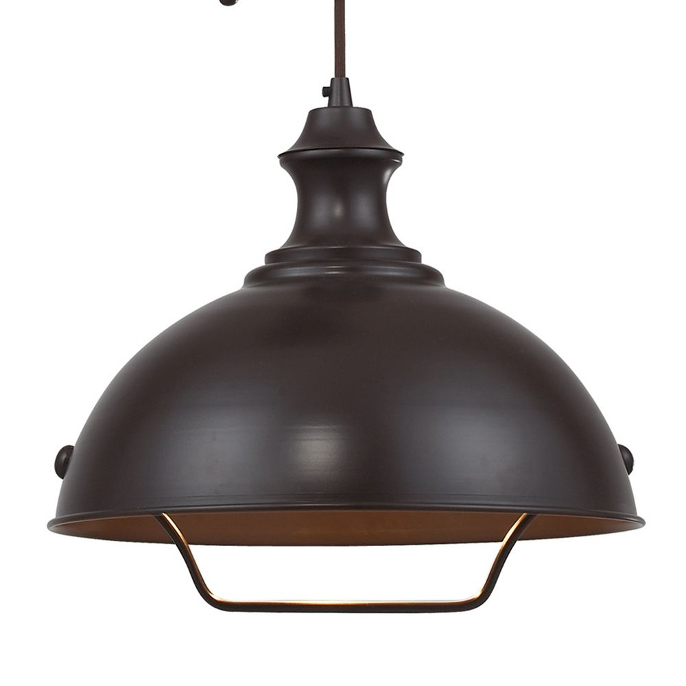 Farmhouse Pulley Pendant Light Bronze Finish 65071 1