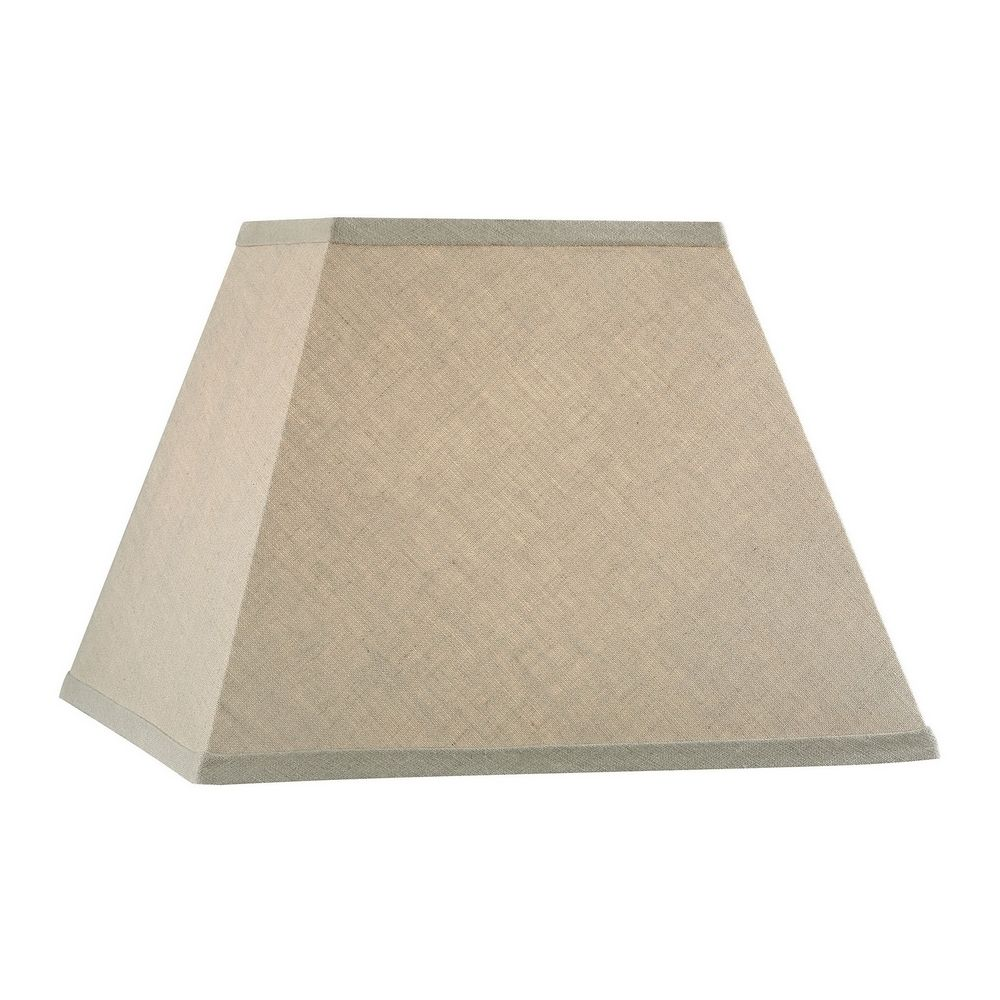 Square Wall Lamp Shades : Beige Square Lamp Shade with Spider Assembly 160144 Destination Lighting