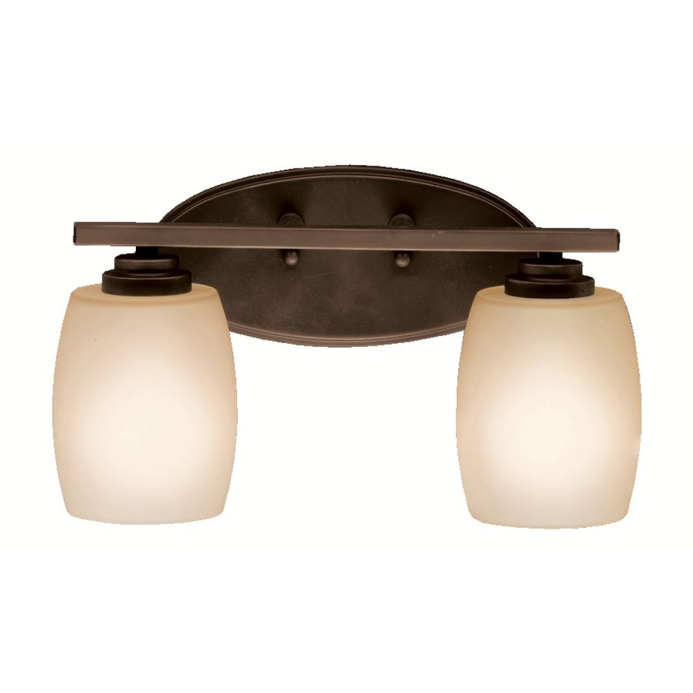 Luxury  Bathroom Light With Silver Glass In Brushed Brass Finish 5584 BB G5031