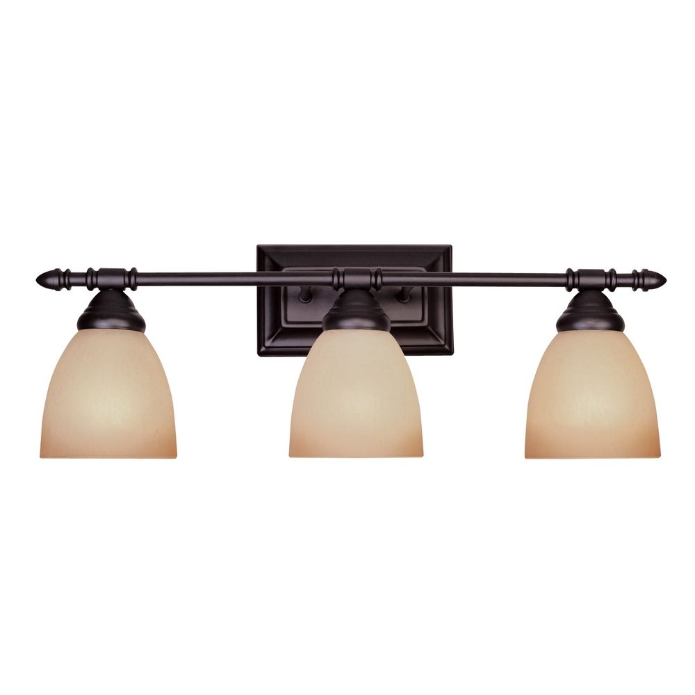 Model Shop DVI 3Light Essex OilRubbed Bronze Bathroom Vanity Light At