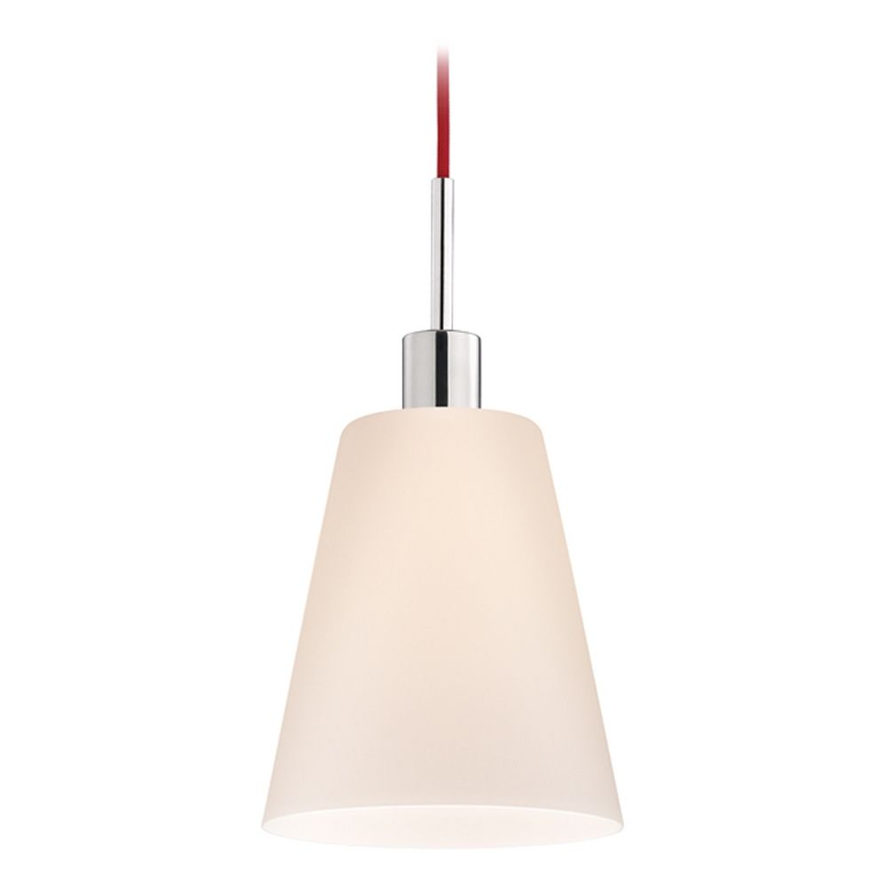 Modern Mini Pendant Light With White Glass