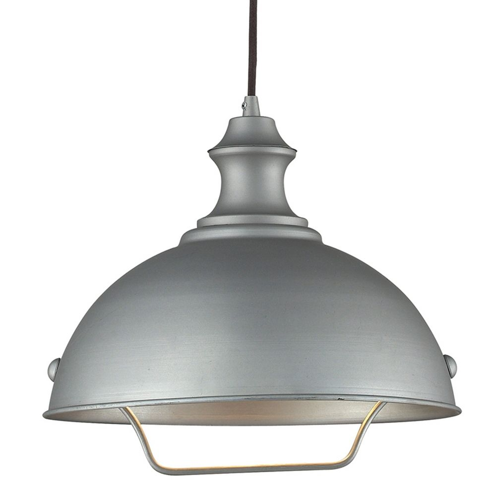 Farmhouse Pulley Pendant Light Grey Finish 1