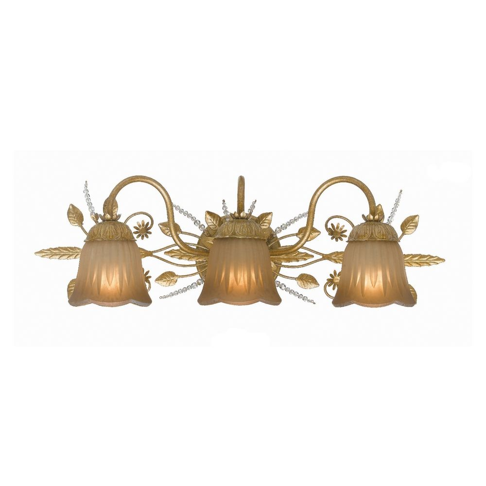 Awesome Period Bathroom Wall Light In Gold Polished Brass Storm Glass Shade