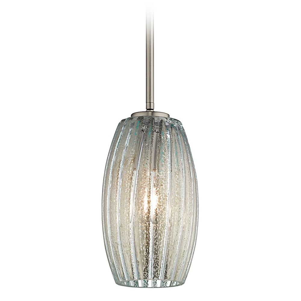 Kichler aquilino brushed nickel mini pendant light with oblong shade product image aloadofball Image collections