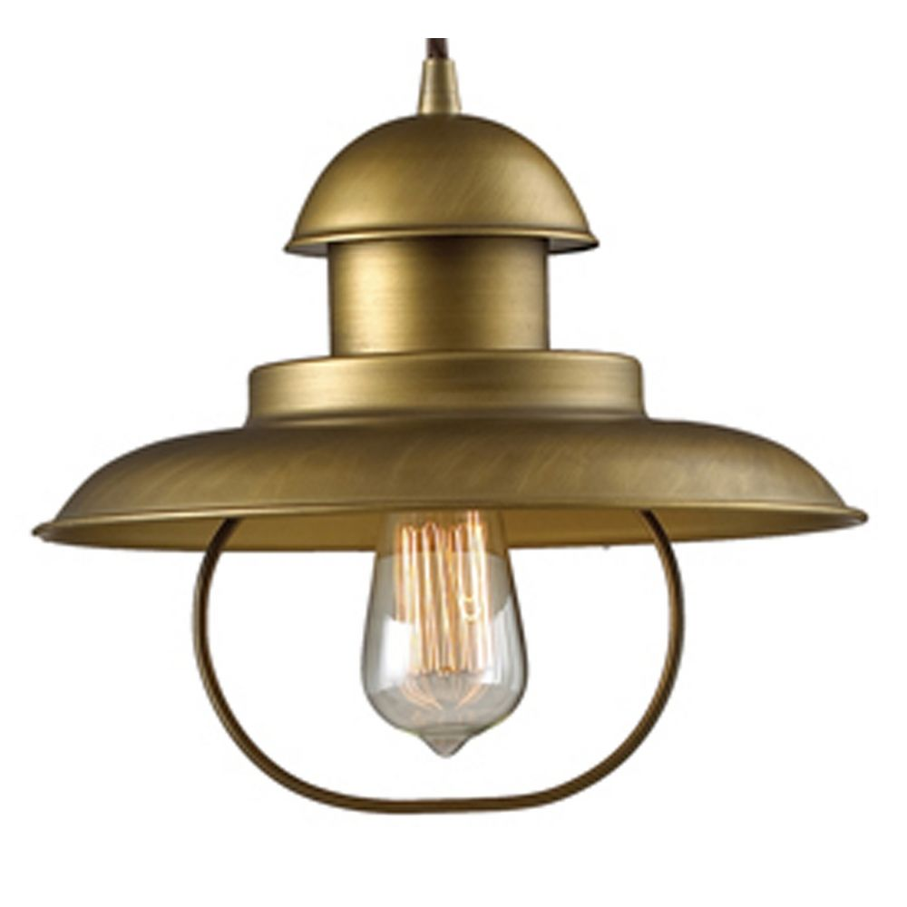 Pulley Table Lamp with Cage Shade - Antique Brass Finish ...