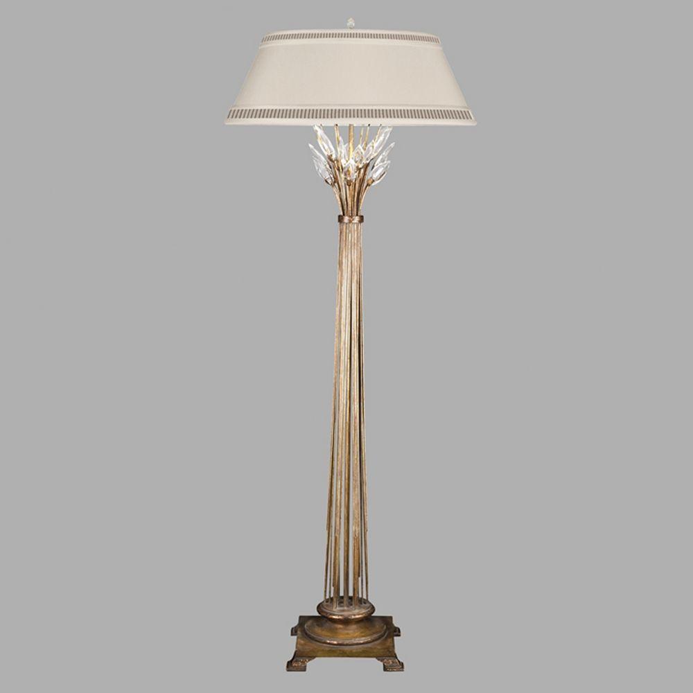 Fine Art Lamps Crystal Laurel Gold Leaf Floor Lamp With