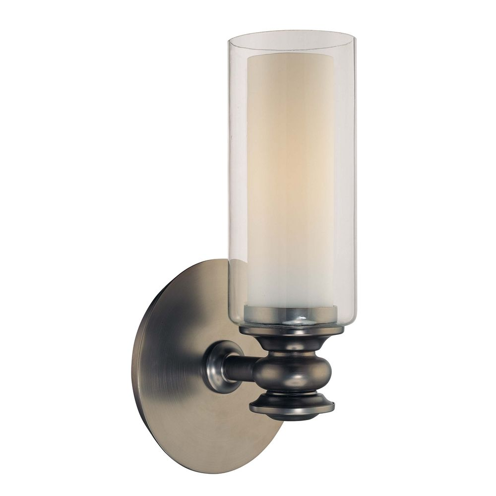 Wall Sconces With Clear Glass : Sconce Wall Light with Clear Glass in Harvard Ct. Bronze Finish 6361-281 Destination Lighting