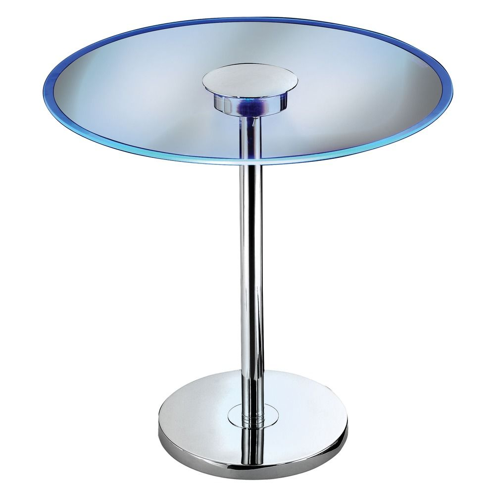 Modern led coffee end table in chrome finish 32176gch destination lighting Led coffee table