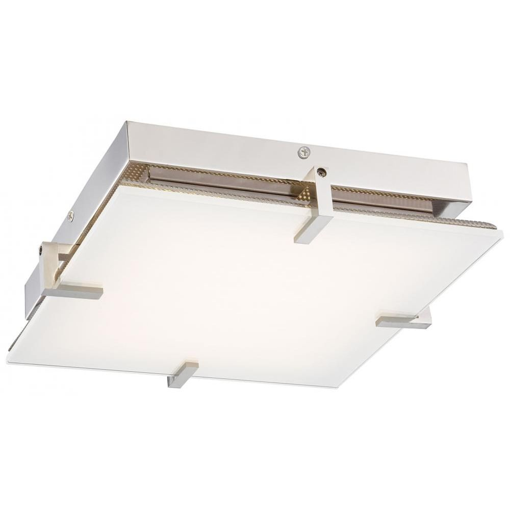 Modern Led Flushmount Light With White Glass At Destination Lighting