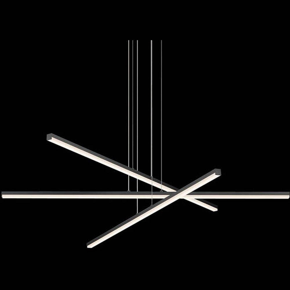 modern led pendant light satin aluminum stix by sonneman lighting