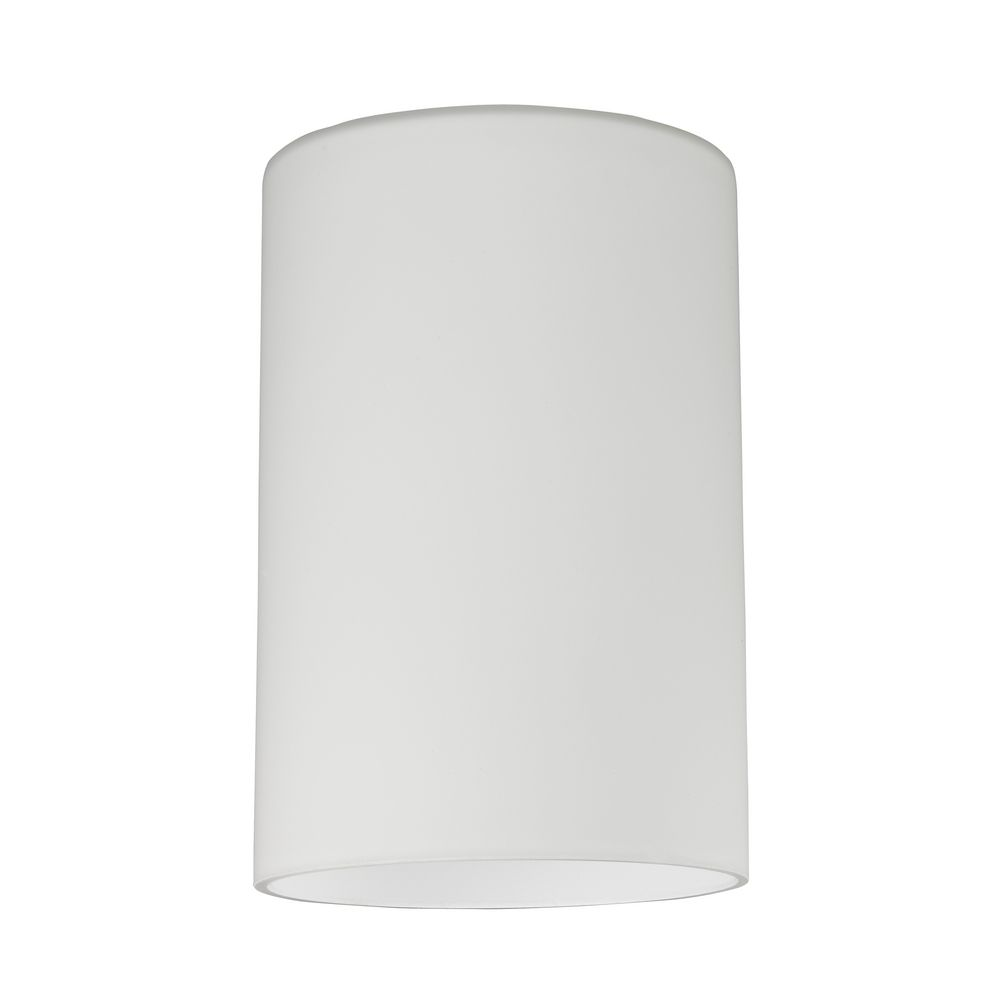 4x4 Lamp Shade : Satin white cylinder glass shade lipless with inch