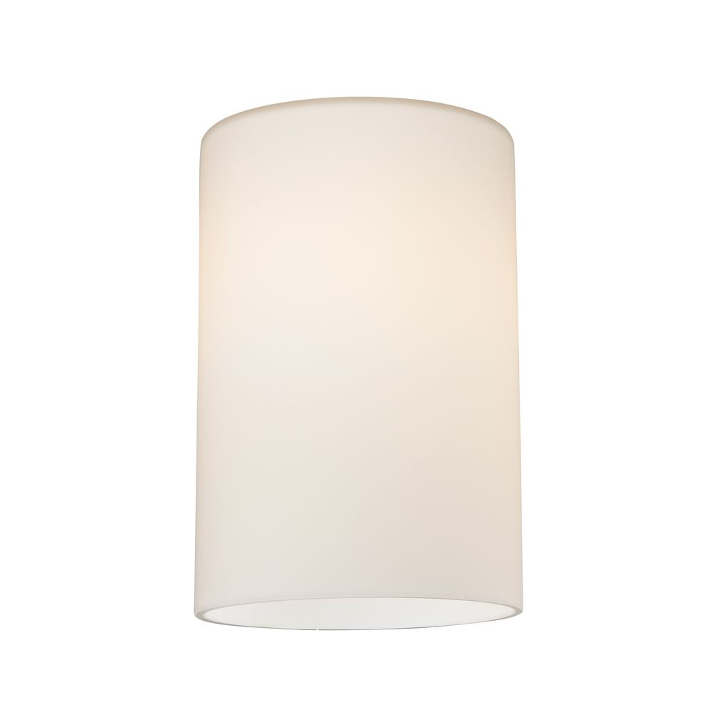 Satin white cylinder glass shade lipless with 1 58 inch fitter product image mozeypictures