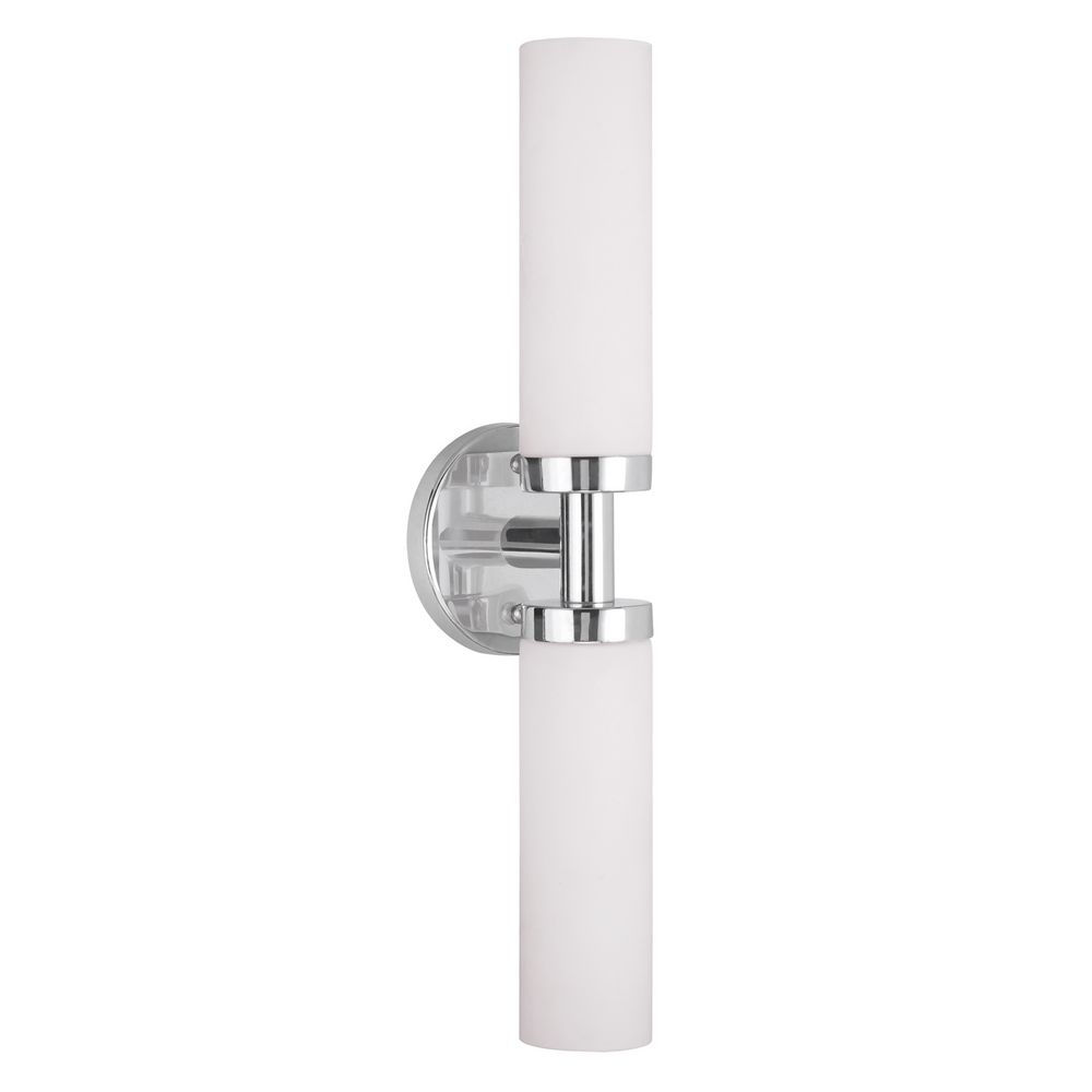 Bathroom Lights Vertical livex lighting aero brushed nickel vertical bathroom light | 10104