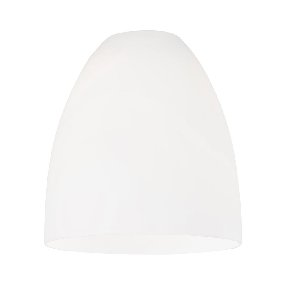 White Art Glass Shade Lipless with 1-5//8-Inch Fitter Opening