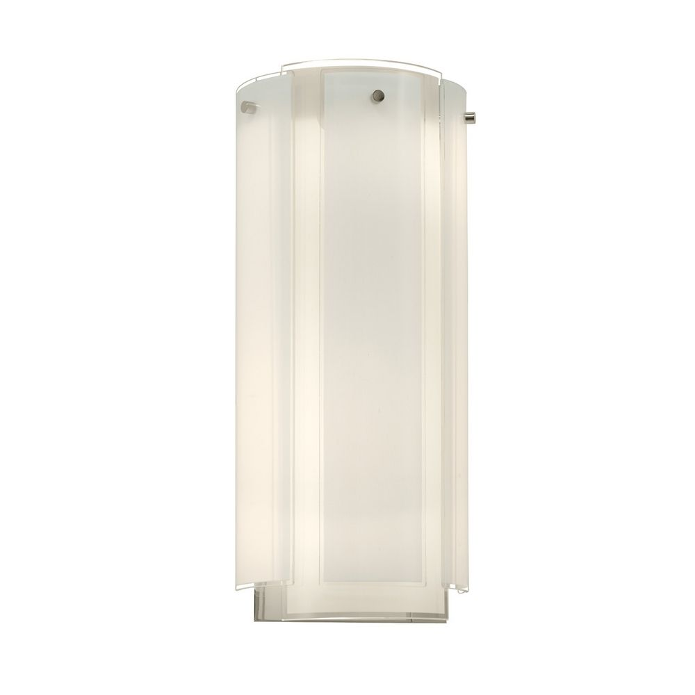 Sconce Wall Light with White Glass in Polished Chrome Finish 3181.01 Destination Lighting
