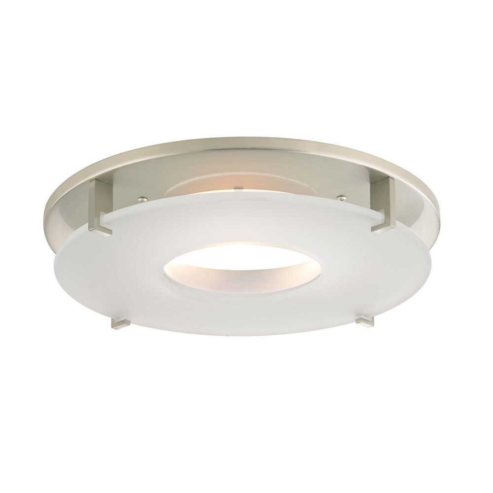 Satin Nickel Decorative Recessed Lighting Trim With