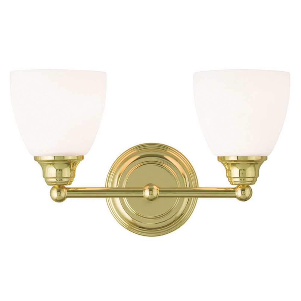 Livex Lighting Somerville Polished Brass Bathroom Light 13662 02 Destination Lighting