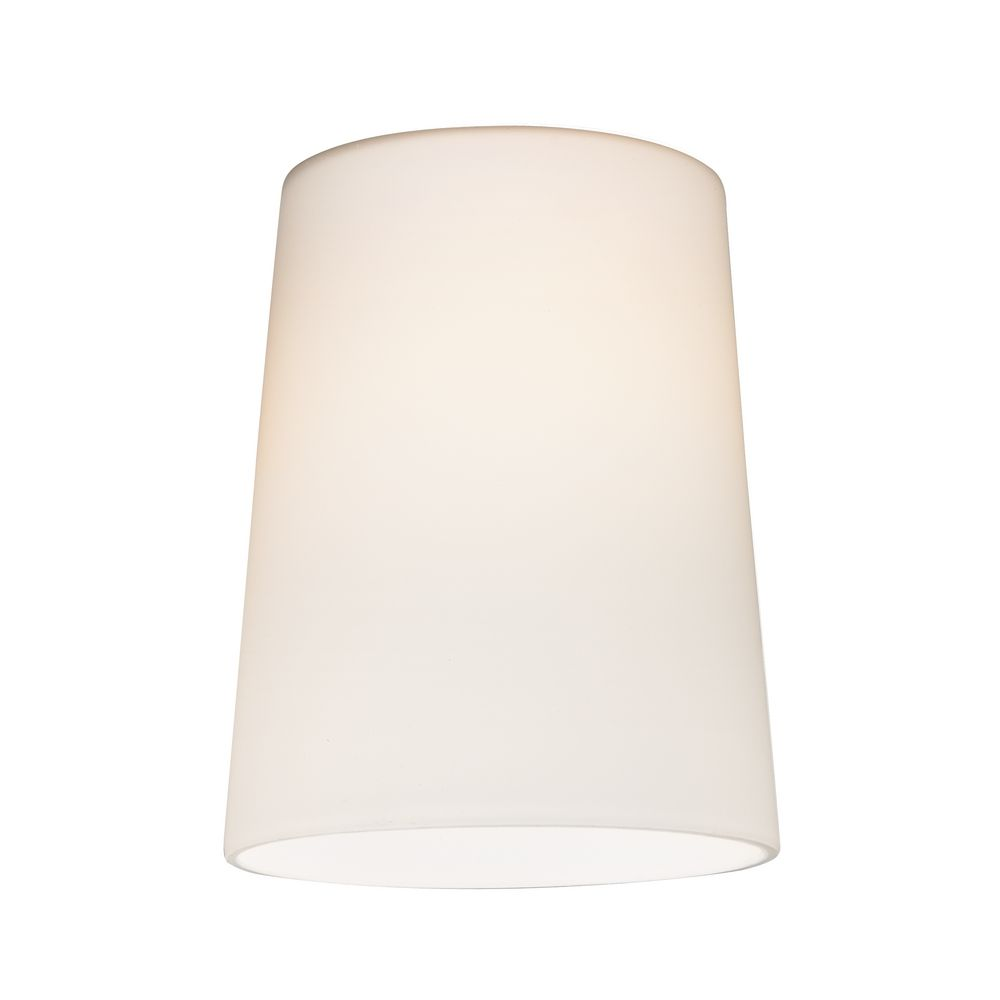 Design Classics Lighting Satin White Cone Glass Shade   Lipless With 1 5/8