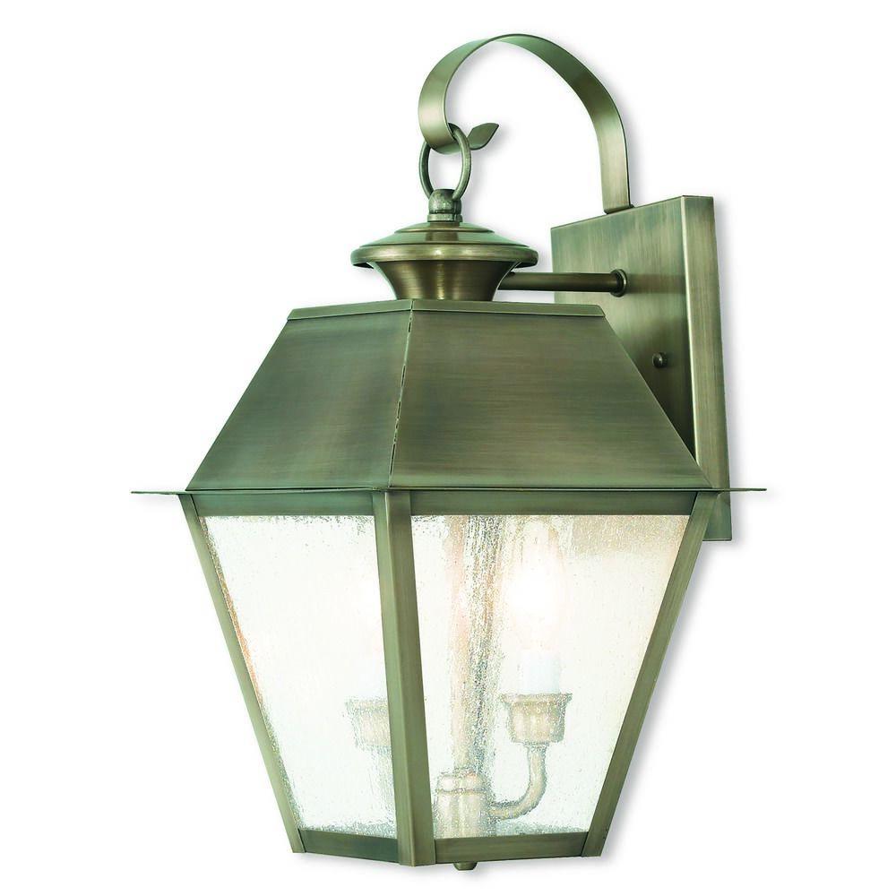 Livex Lighting Mansfield Vintage Pewter Outdoor Wall Light