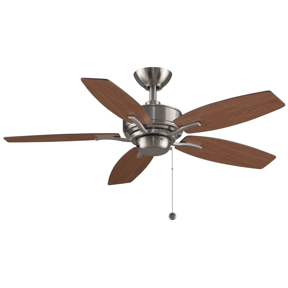 Ceiling Lights And Fans: Fanimation Fans Aire Delux Brushed Nickel Ceiling Fan