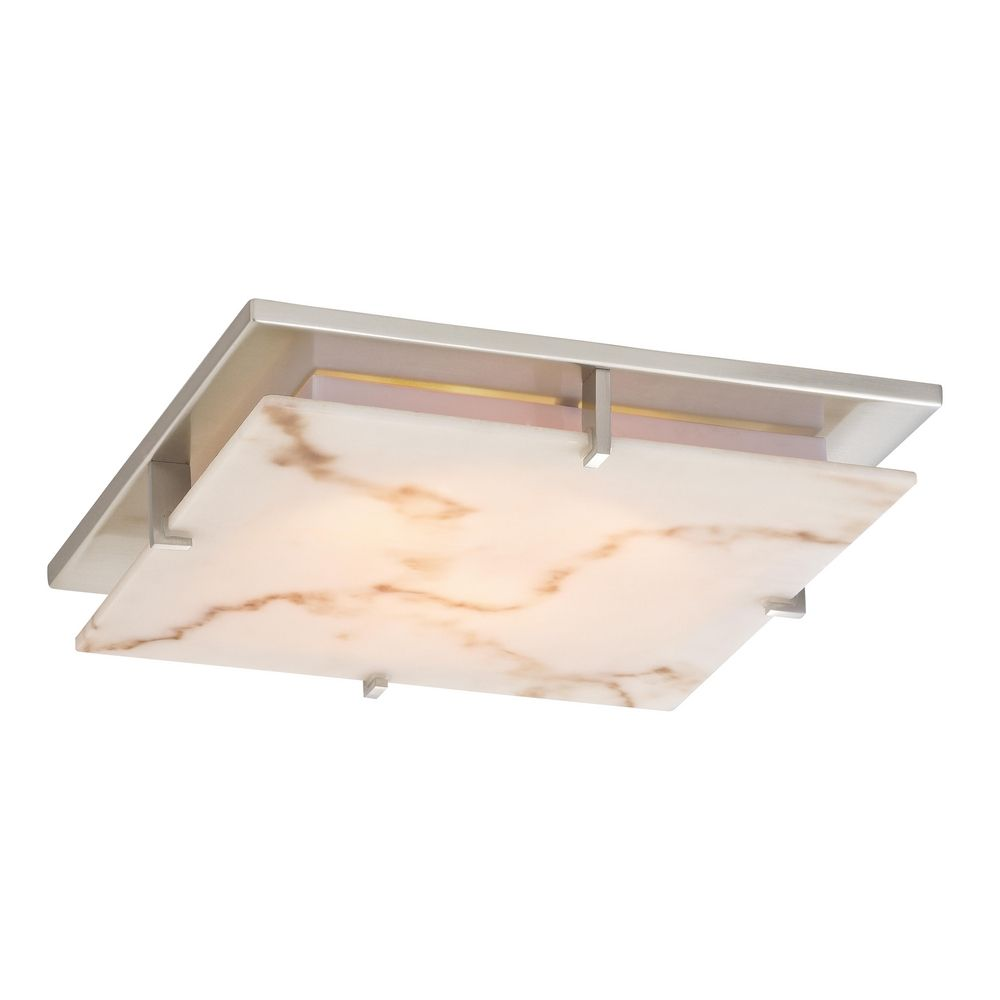 low profile decorative alabaster ceiling trim for recessed lights