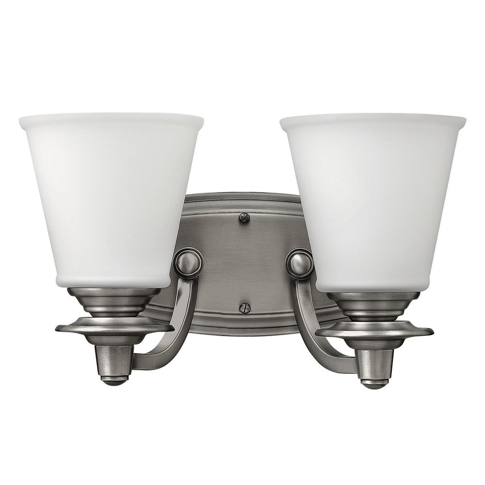 Hinkley lighting plymouth polished antique nickel bathroom for Hinkley bathroom vanity lighting